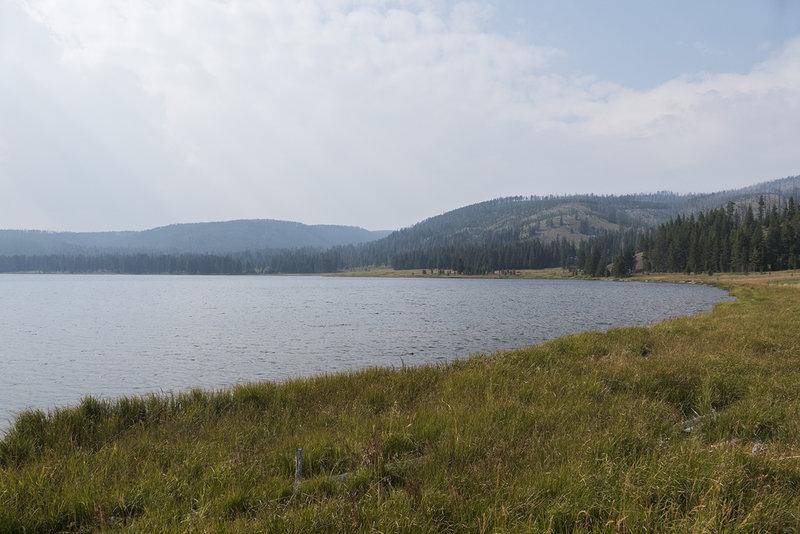 Looking northwest across Grebe Lake.