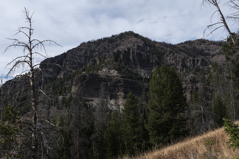 View of Black Butte from the trail.