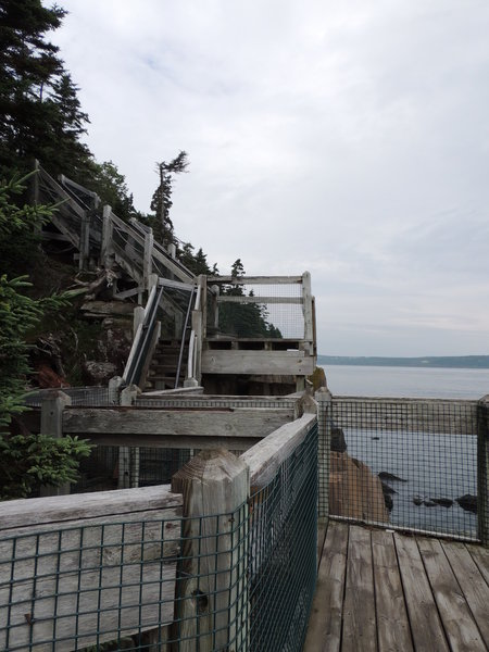 The start of the 235-stair staircase.