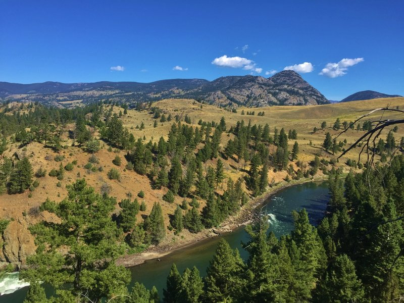 Great views of the Yellowstone River and Hellroaring Peak from the north side of Garnet Hill.