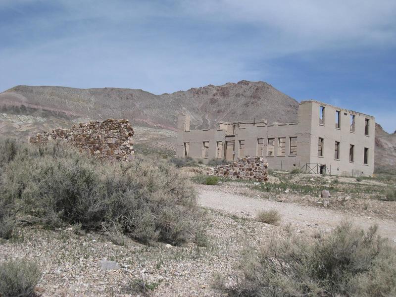 The ruins of Rhyolite.