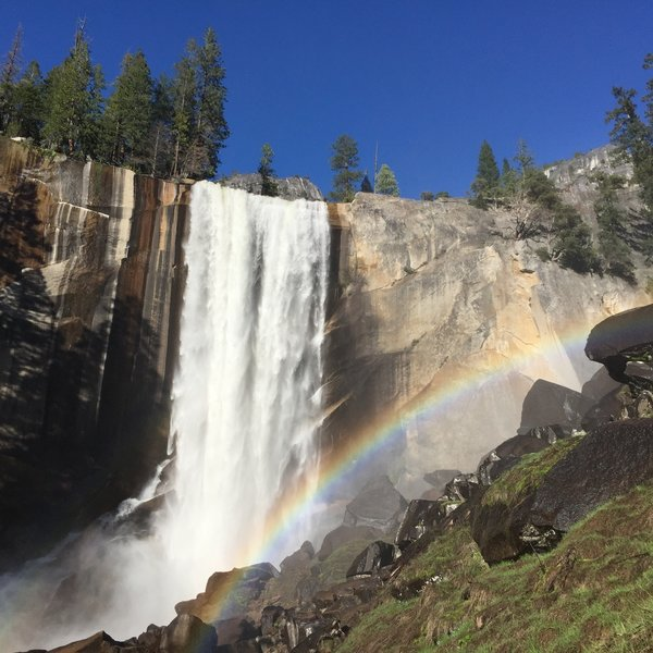 Vernal Falls with rainbow.