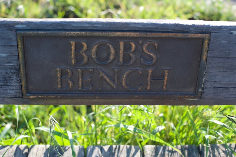 Bob's Bench is a nice place to rest and enjoy the view.