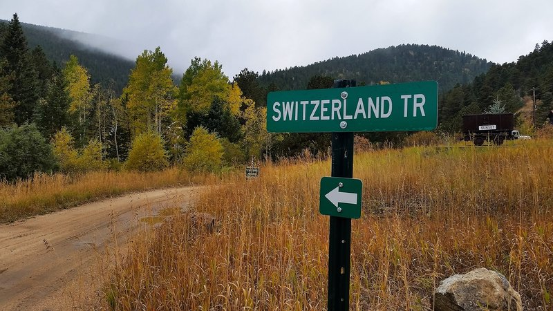 Sign for Switzerland Trail.