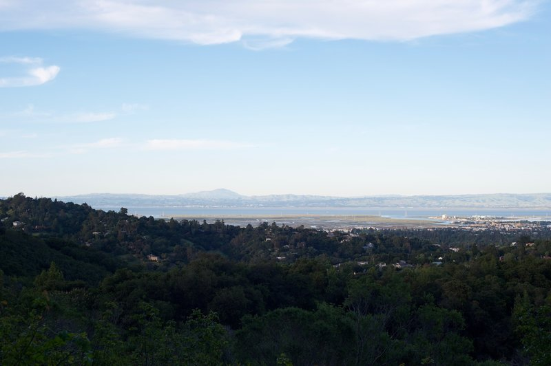 Views of San Francisco Bay from the trail.