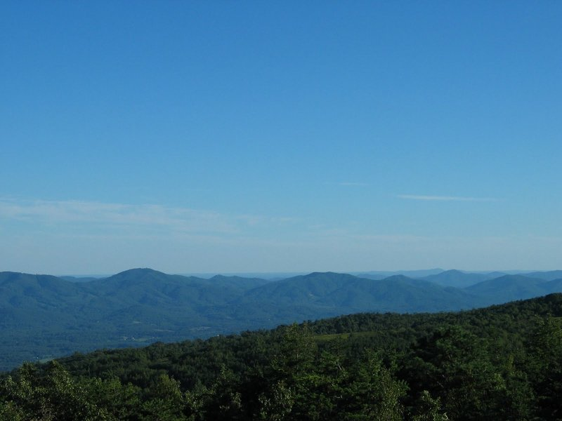 The view south from Little Calf Mountain. with permission from rootboy