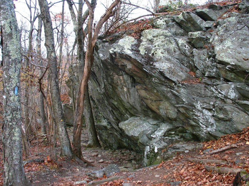 Large rock overhang, Frazier Discovery Trail. with permission from rootboy