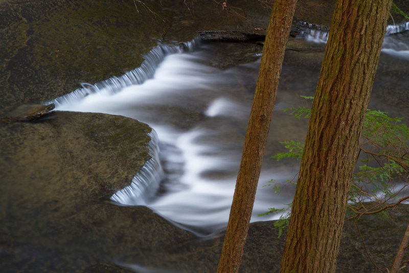 A cascade along Fiery Gizzard.
