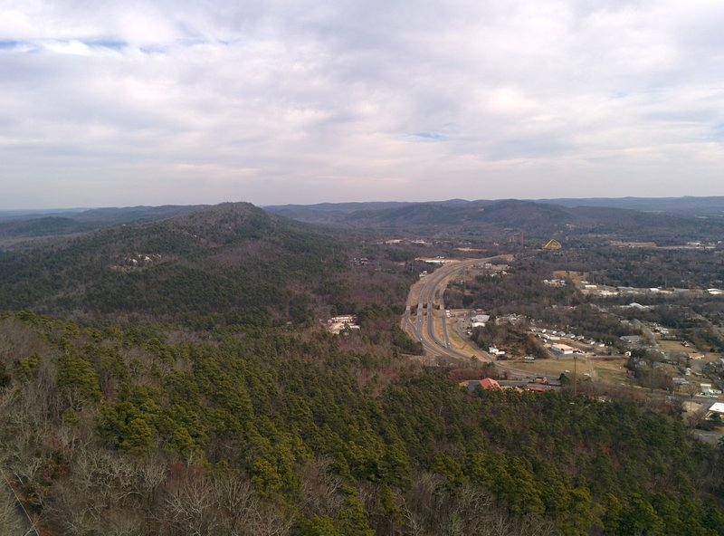 View from Hot Springs Mountain Tower, Hot Springs, AR