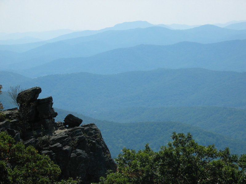 Ridge lines in the distance from North Marshall Mountain Lookout. with permission from rootboy