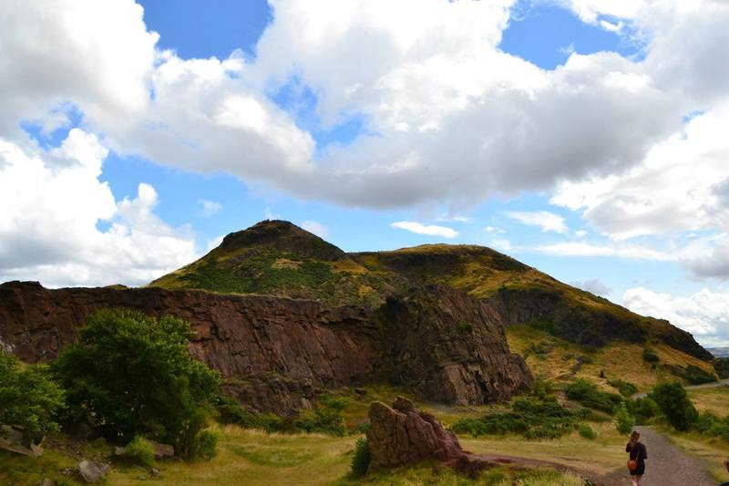 Arthur's Seat, a historic geologic wonder on the outskirts of Edinburgh