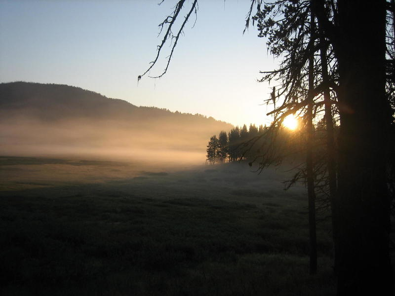 Sunrise over Cascade Creek.