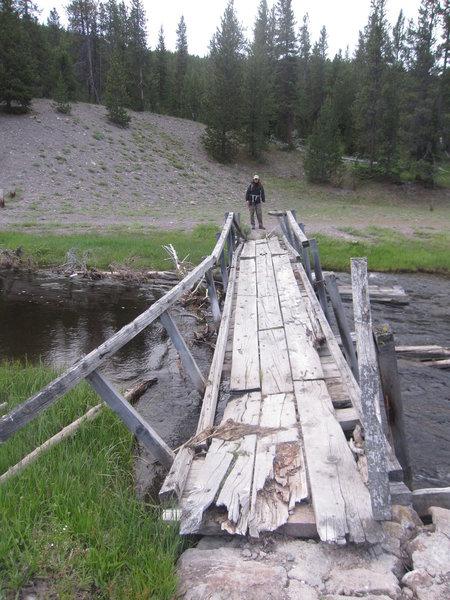Old bridge across Nez Perce Creek was still standing in 2011.