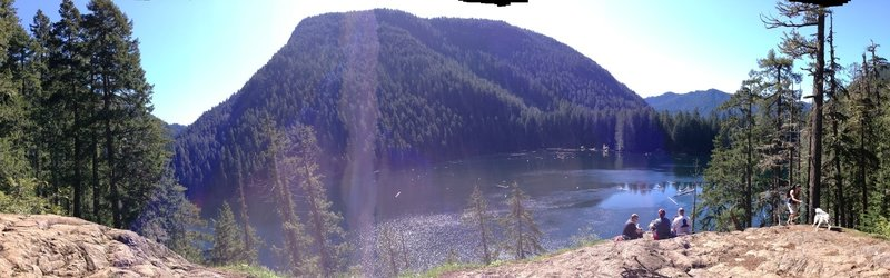 Panorama overlooking Lena Lake. A perfect place to stop and have lunch.
