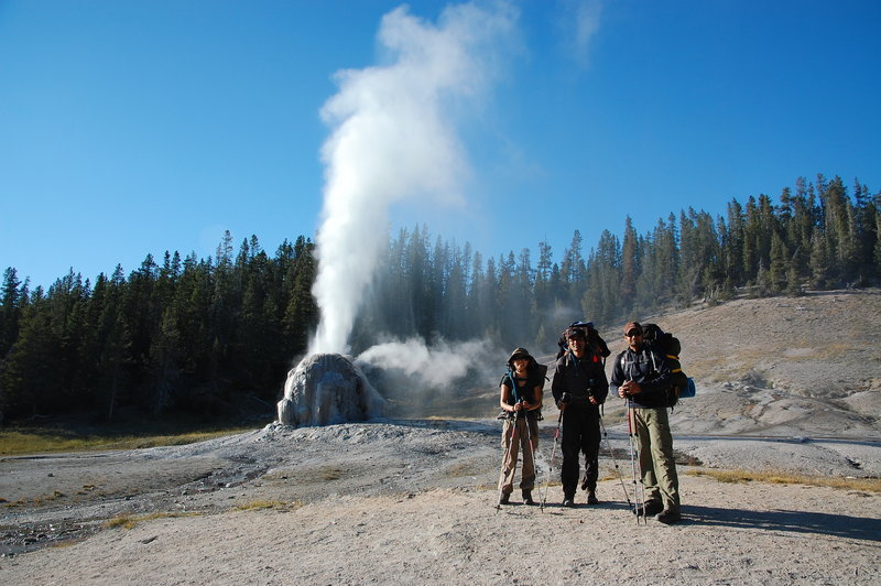 Working our way past Lone Star Geyser.