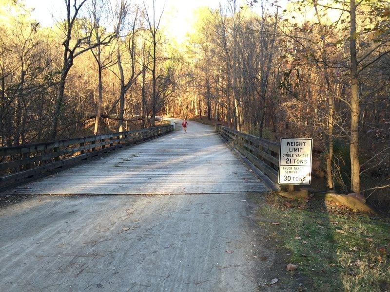Bridge over Crabtree Creek in Umstead State Park.
