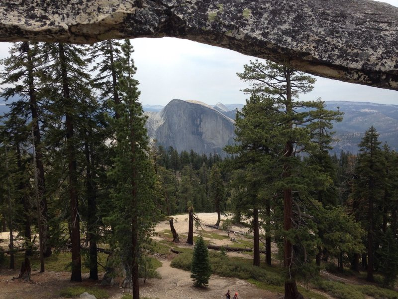 Looking thru the arch at Halfy