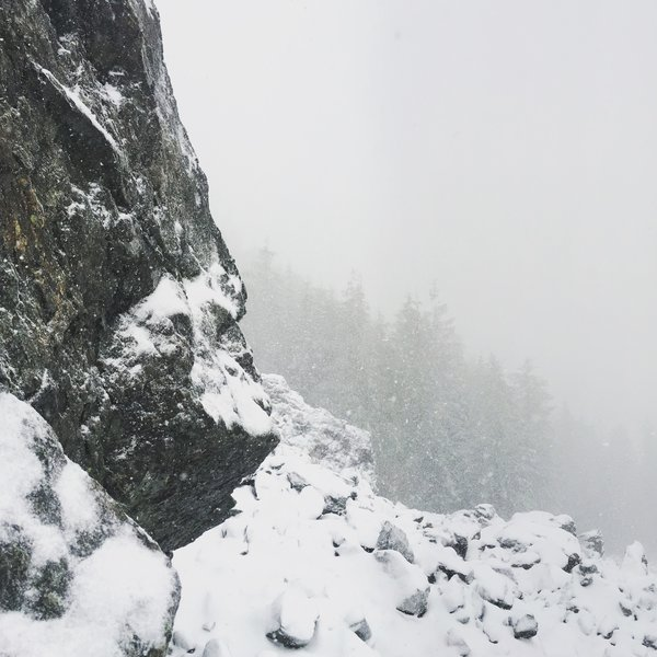 Snowy Mt. Si on a winter day.
