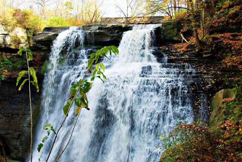 The beautiful Brandywine Falls in the fall.