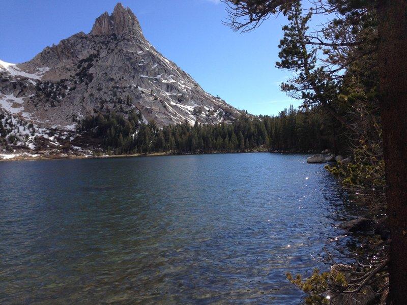 At Young Lakes looking at Ragged Peak.