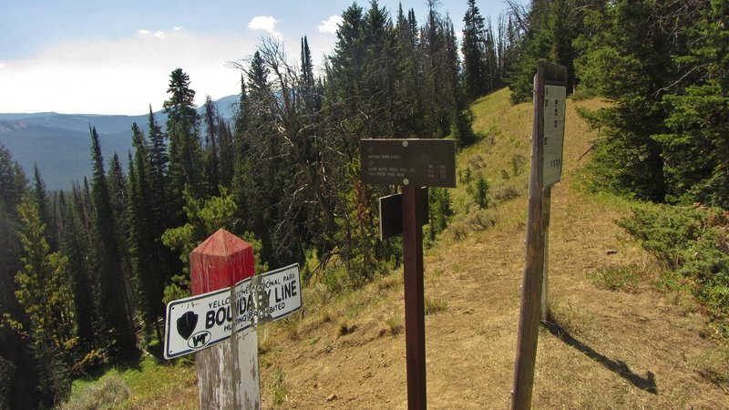 Dailey Pass is a major 4-way intersection between Yellowstone's Sky Rim Trail & Dailey Creek Trail and the NFS Dailey Pass Trail.