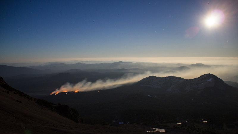 Forest Fire, observed from Lassen Peak.