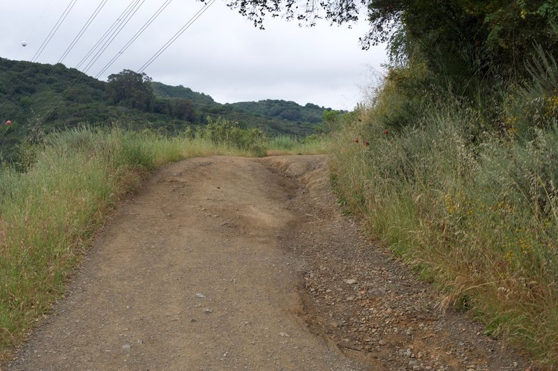 Some of the trail suffers from erosion in the winter.