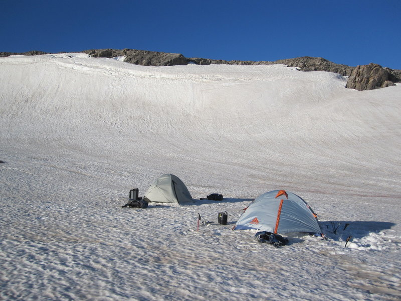 Camp at top of Death Canyon ~9500 ft.  June 2012