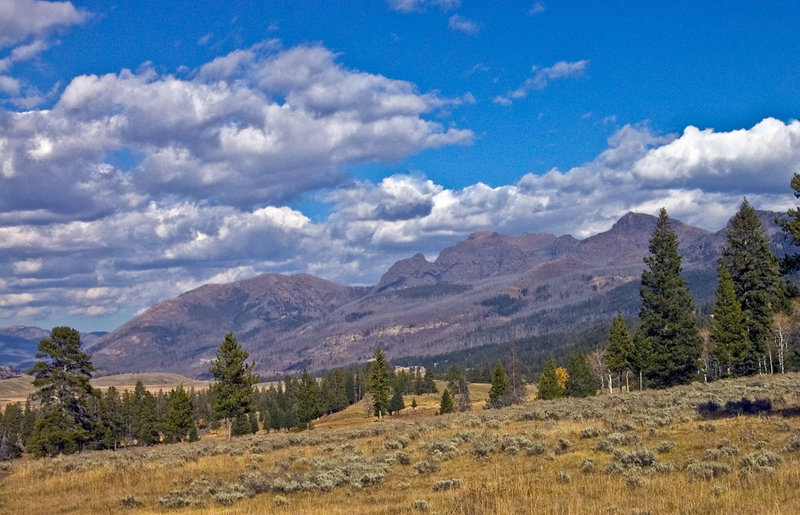 Peaks in Slough Creek to the north of Yellowstone Park with permission from Ralph Maughan