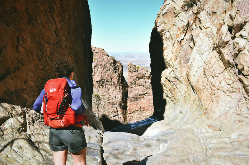 """Overlook at """"The Window"""" in Big Bend National Park"""