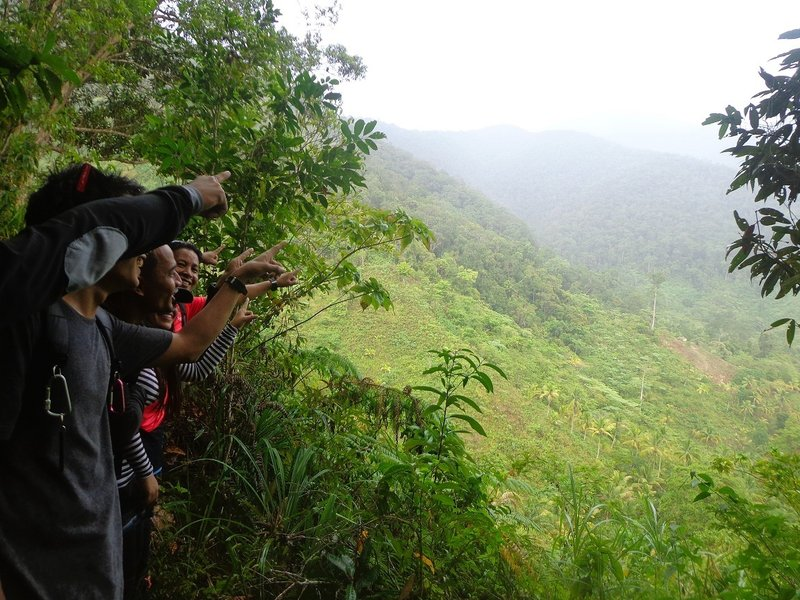 Pointing at the summit of Mt. Hamiguitan.