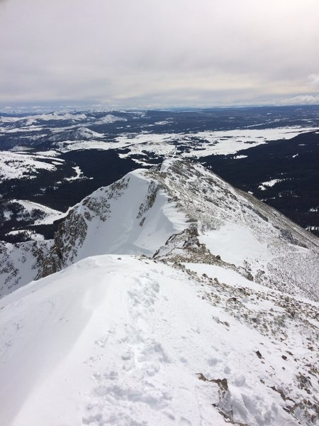Trail to summit in the winter.