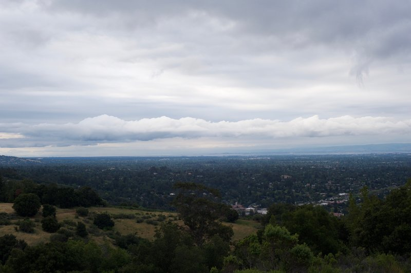 The view from the trail's junction with the Lower Brother's Bypass Trail.