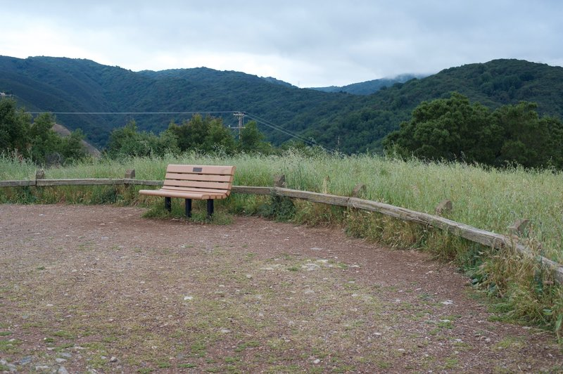 Bench at the top of St. Joseph's Hill.