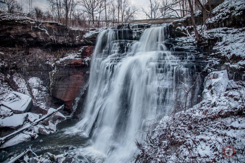 Brandywine Falls in winter.