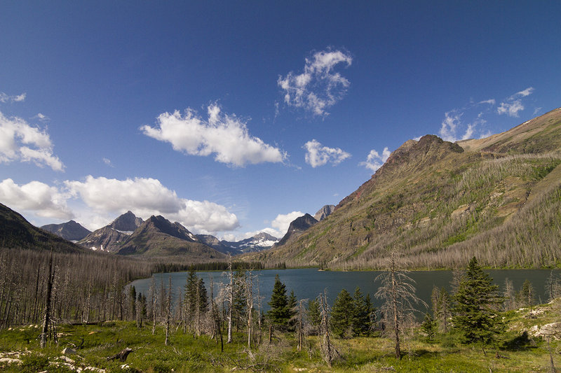 View from the foot of Red Eagle Lake.