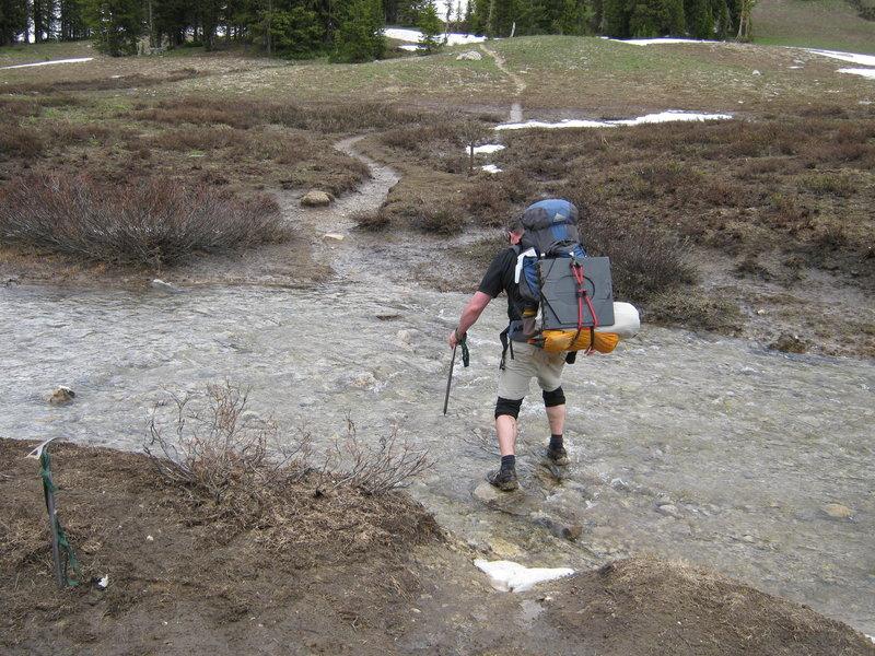 Crossing Middle Fork Granite Creek.