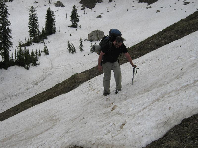 Climbing up to Marion Lake.