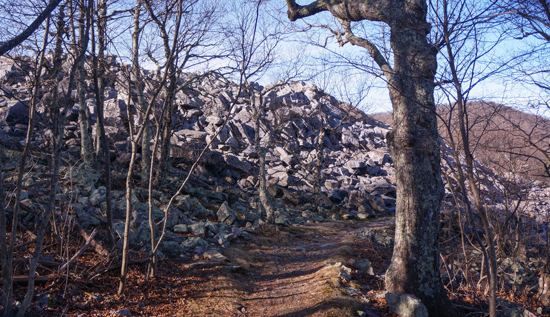 The talus slope on the AT.