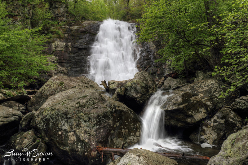 The second of 6 waterfalls in Whiteoak Canyon (the 1st being the very upper falls).
