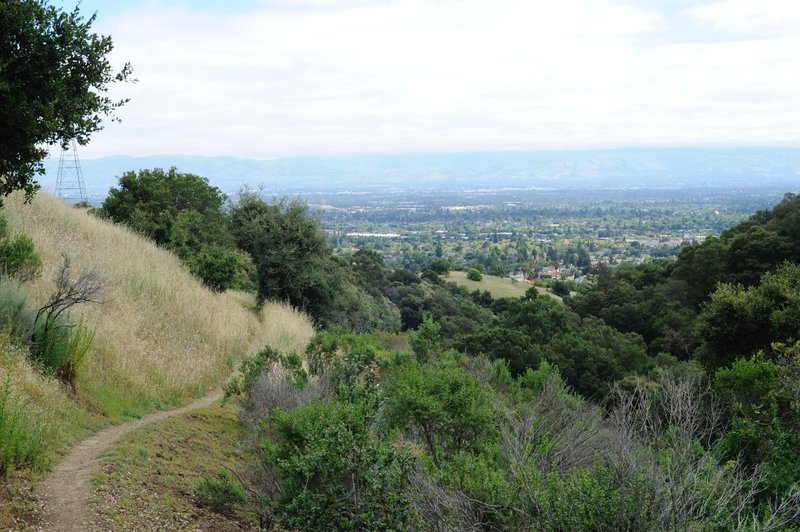 Views of Silicon Valley from the trail.