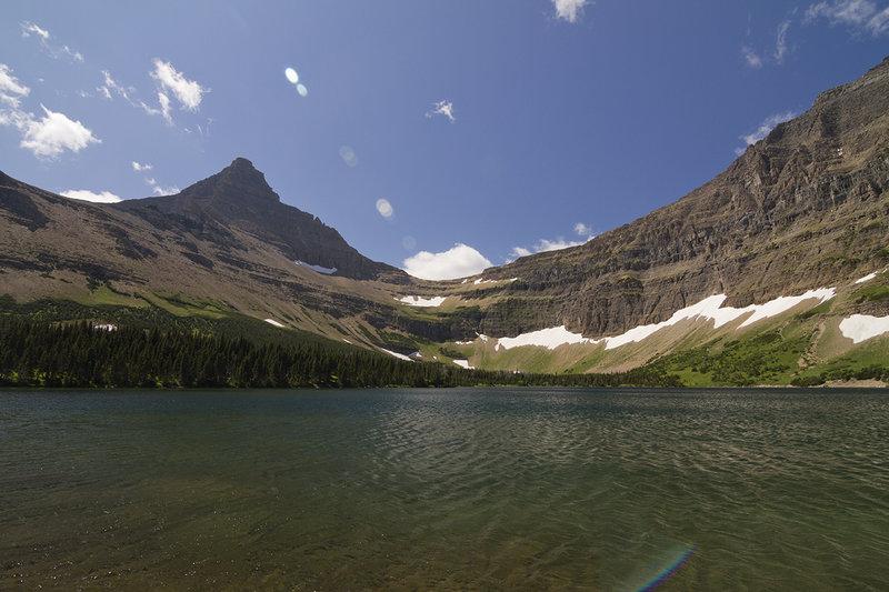 Oldman Lake from the shoreline.