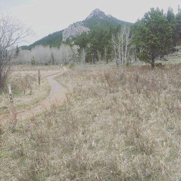 Mountain outcroppings around Fraser Meadow.