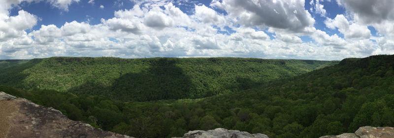 Panoramic from second overlook on top of Stone Door.