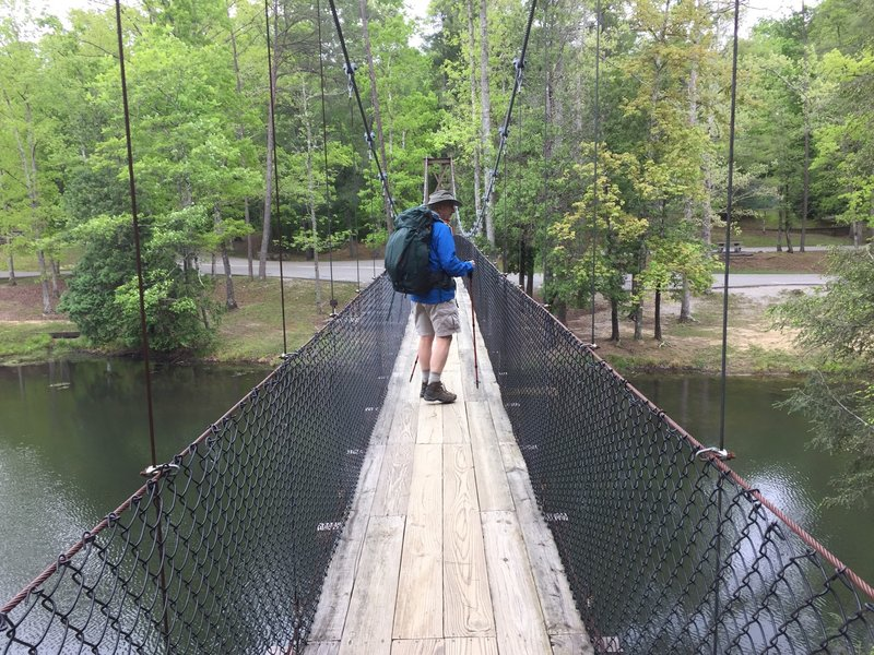Swinging Bridge across Arch Lake