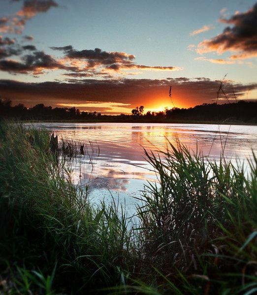 Defiance Lake sunset.
