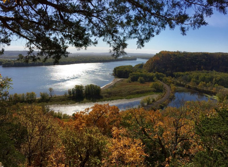 View from the top of Effigy Mounds Monument.