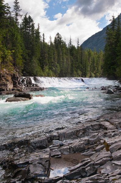 Glacier Runoff - Glacier National Park.