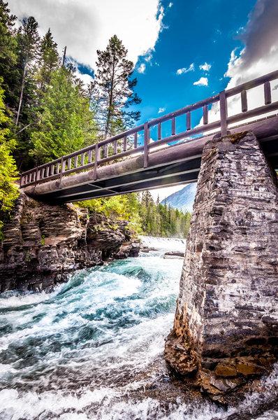 Bridge over the river.