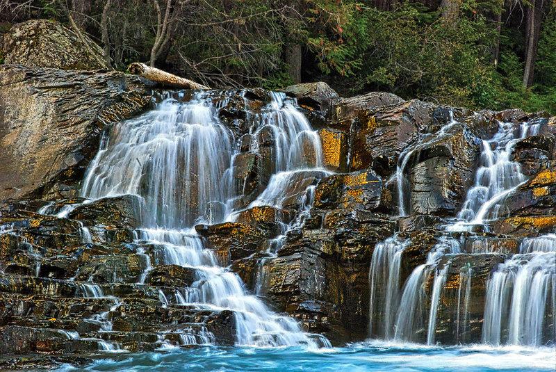 McDonald Creek waterfall